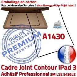 Adhésif Cadre A1430 Noir Châssis Joint Apple Réparation N Ecran Contour iPad Autocollant Tablette Precollé Vitre Tactile 3 Plastique