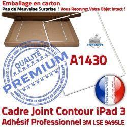 Autocollant Apple A1430 Châssis Réparation Tablette Vitre Tactile B Blanc Contour Adhésif iPad ABS 3 Plastique Cadre Ecran Joint