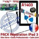 PACK iPad 3 A1403 iLAME Joint N Chassis Tablette Apple iPad3 Cadre KIT Adhésif Outils Réparation Precollé Noire Tactile Bouton HOME Vitre Verre