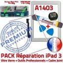 PACK iPad 3 A1403 iLAME Joint B Outils iPad3 Tablette Bouton Cadre HOME PREMIUM Tactile Verre Réparation Precollé Blanche Adhésif Apple Vitre