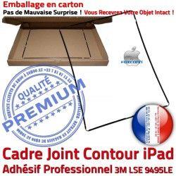 Ecran Autocollant Réparation Tactile Apple N Tablette iPad Châssis Cadre Noir Precollé Plastique Joint ABS Vitre Contour Adhésif