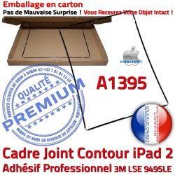 Ecran A1395 Cadre Châssis Adhésif Precollé Noir Contour Tactile iPad Autocollant Réparation Tablette Apple Joint 2 N Vitre Plastique