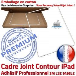 B Autocollant iPad Vitre ABS Precollé Apple Adhésif Ecran Contour Châssis Réparation Plastique Tablette Tactile Joint Blanc Cadre