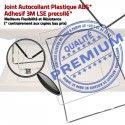Joint Plastique iPad 2 A1395 B Châssis Vitre Tablette Apple Autocollant Ecran ABS Tactile Blanc Réparation Cadre Contour Adhésif