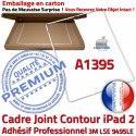 Joint Plastique iPad 2 A1395 B Adhésif Tablette Vitre ABS Châssis Blanc Réparation Autocollant Contour Apple Cadre Tactile Ecran