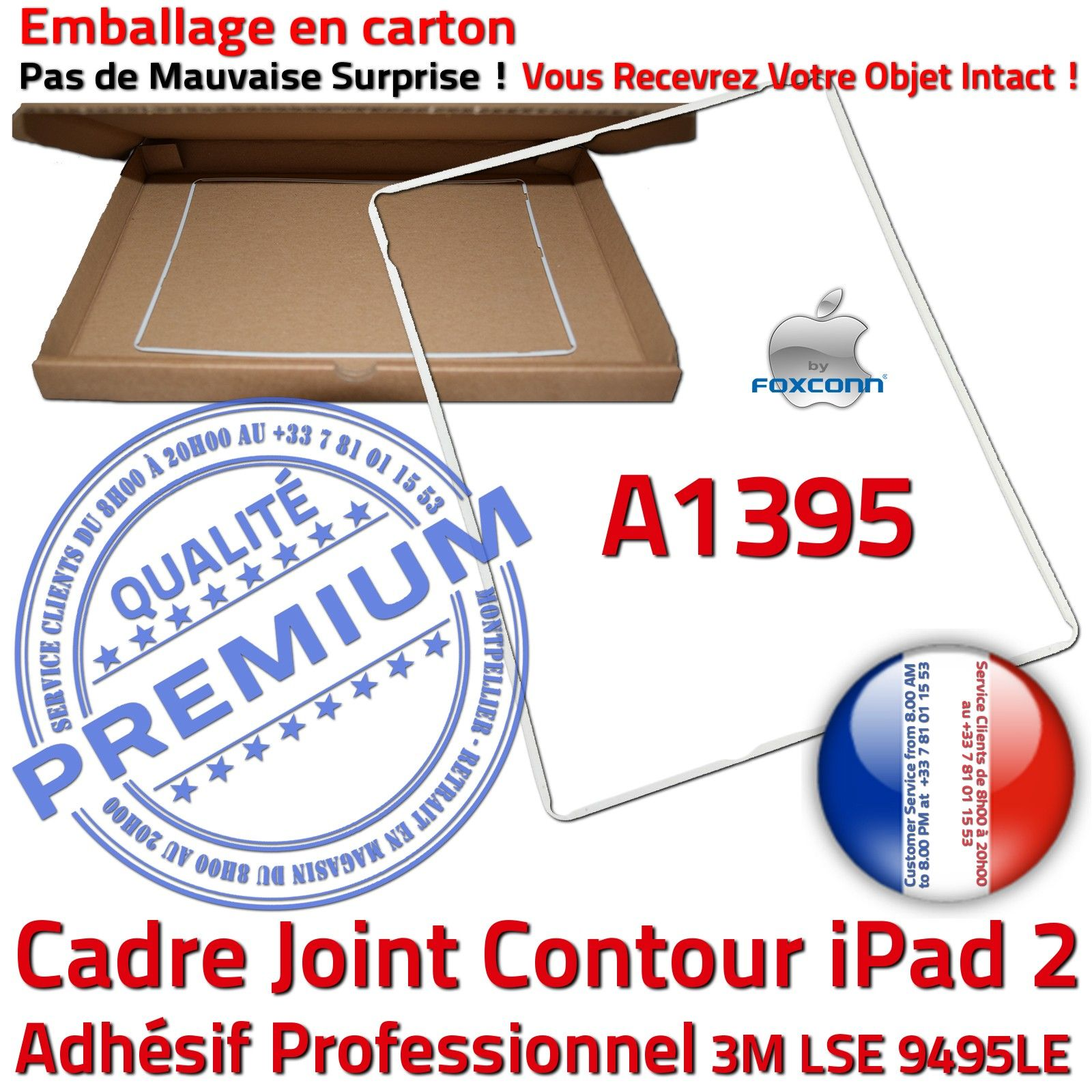 ipad 2 a1395 cadre blanc joint plastique contour vitre tactile ch ssis adh sif ebay. Black Bedroom Furniture Sets. Home Design Ideas