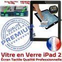 iPad2 Apple A1395 A1396 A1397 PN Tactile Verre Ecran Noir iPad Adhésif Remplacement Oléophobe Nappe 2 Precollé Fixation Bouton Qualité Vitre Caméra HOME PREMIUM