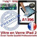 iPad2 Apple A1396 Noir Qualité Caméra Ecran Oléophobe HOME Fixation PREMIUM Tactile iPad Bouton Precollé Adhésif Verre Remplacement Vitre 2