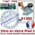 iPad2 Apple A1395 Blanc Remplacement Precollé Bouton Qualité iPad Tactile Ecran Adhésif Vitre Caméra HOME PREMIUM Fixation Oléophobe 2 Verre
