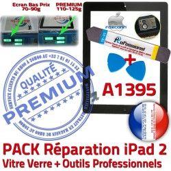 iPad PREMIUM A1395 Réparation Tactile Démontage Noire Bouton Verre PACK 2 Outils Qualité iPad2 Vitre HOME KIT Adhésif Oléophobe Precollé N
