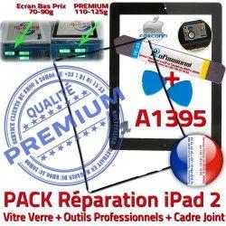 Cadre Joint Bouton Tablette Chassis Apple iLAME HOME Outils Noire Tactile A1395 KIT Vitre N PACK Adhésif iPad 2 iPad2 Réparation Verre Precollé