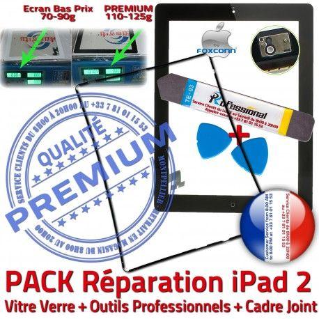 PACK iPad2 iLAME Joint N Réparation Adhésif Noire Vitre HOME iPad Verre Apple Tactile Tablette Bouton KIT Cadre 2 PREMIUM Outils Chassis Precollé