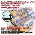 iPad Mini1 A1455 Noir Fixation Verre Tactile Home Adhésif Réparation Filtre Bouton Vitre Oléophobe Caméra Ecran Monté Tablette Nappe