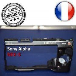 Menu bouton ORIGINAL Carte Marche/Arrêt Alpha Couvercle Coque et OFF Arrière NEX-5 Mémoire ON Lecture Touche Sony avec Batterie