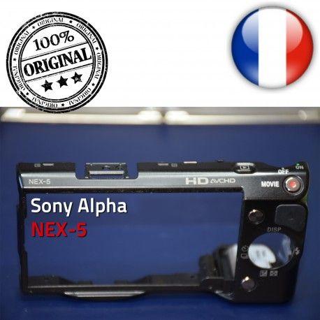 Sony Coque Arrière ON Alpha Batterie Marche/Arrêt avec ORIGINAL bouton NEX-5 Touche OFF Mémoire Couvercle et Menu Carte Lecture
