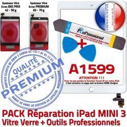 Outils Adhésif B PREMIUM Qualité Verre KIT Réparation iPad Touch PACK MINI Blanche Complet A1599 Mini Tablette Attention Vitre Tactile 3 ID