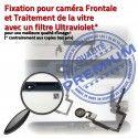 iPad Mini3 A1601 Noir PREMIUM Bouton Fixation Caméra Réparation Filtre Tablette Ecran Oléophobe Nappe Vitre Adhésif Tactile Verre