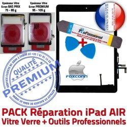 N Réparation Tactile Tablette HOME A1476 PREMIUM A1474 AIR Verre A1475 Outil Bouton Démontage Nappe Qualité KIT Vitre en Noire iPad Adhésif PACK Precollé