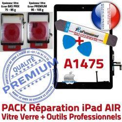 N Outils AIR Bouton Verre PREMIUM Tactile Precollé A1475 PACK iPad Noire Réparation Vitre HOME Qualité Oléophobe Adhésif KIT Démontage