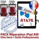 PACK iPad AIR A1476 N Démontage Oléophobe Outils HOME Bouton Vitre PREMIUM Qualité Adhésif Tactile Réparation KIT Precollé Verre Noire