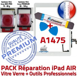 Precollé Adhésif iPad HOME B Réparation PREMIUM Bouton Qualité AIR Outils Blanche PACK A1475 Tactile Nappe Oléophobe Verre KIT Vitre