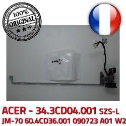 Hinge PC W2 A01 Gauche Montant JM-70 ACER Fixations 34.3CD04.001 Left Charnière 090723 LCD SZS-L 60.4CD36.001 ORIGINAL écran Portable