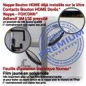 PACK iPad AIR A1474 B KIT Outils HOME Bouton Oléophobe Precollé Vitre Verre Adhésif Tactile Réparation Blanche PREMIUM Nappe Qualité