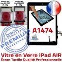 iPad AIR A1474 Noir IC Réparation Ecran Verre Adhésif Caméra Tactile Monté HOME Tablette Nappe Fixation Qualité Oléophobe Vitre