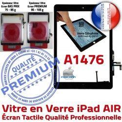 Fixation IC Adhésif Vitre Oléophobe Tactile Monté Verre A1476 Caméra iPad Qualité Tablette HOME AIR Noir Ecran Réparation Nappe