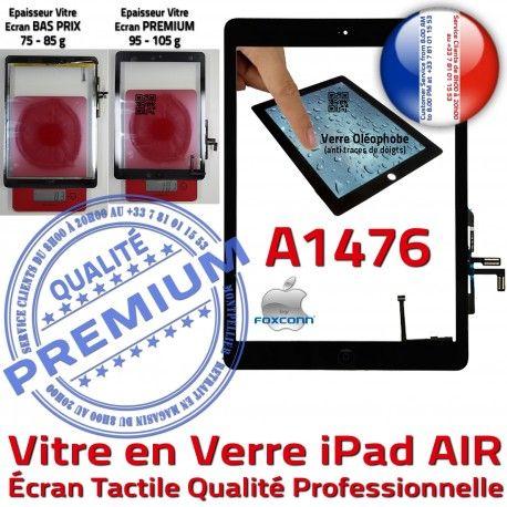 iPad AIR A1476 Noir Adhésif Caméra Qualité Nappe Verre Fixation IC Tablette Vitre Ecran Monté Oléophobe Tactile HOME Réparation
