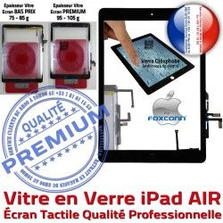 Tactile Monté Ecran Oléophobe Vitre Tablette Noir 5 iPad5 Bouton Qualité Adhésif HOME Caméra iPad Réparation Fixation Nappe Verre AIR