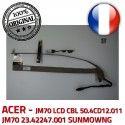 ACER Video Cable SUNMOWNG B1928309309C JM70 LCD CBL CN0314-SN30-OV03-5 Nappe 50.4CD12.011 23.42247.001 ORIGINAL VA-05 Microphone
