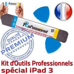 Compatible A1416 iSesamo Tactile Qualité Professionnelle Vitre A1430 iLAME iPad3 Outils Remplacement Réparation A1403 PRO Démontage 3 KIT iPad Ecran