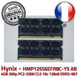HYNIX SODIMM 16c Memoire AB PC2-5300 CL5 HMP125S6EFR8C-Y5 4GB 1.8V ASPIRE 2Rx8 ORIGINAL 128x8 2 DDR2-667 DDR2 Acer 2GB RFB x