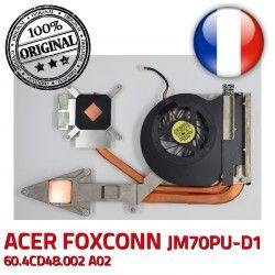 A02 Acer F81D FOXCONN JM70PU-D1 60.4CD48.002 ORIGINAL Radiateur Ventilateur Aspire DC5V