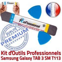 iSesamo Réparation KIT SM T113 Compatible Outils Qualité Professionnelle Remplacement Vitre iLAME Démontage Tactile Samsung Ecran 3 TAB Galaxy