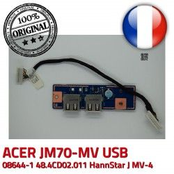 USB JM70 J Board MV E89382 ORIGINAL ACER 48.4CD02.011 JM70-MV MV-4 Cable HannStar BD 94V-0 Ports 50.4CD09.011 Module