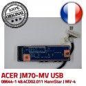 ACER USB JM70 MV-4 Ports JM70-MV 48.4CD02.011 Cable Module HannStar 50.4CD09.011 94V-0 J Board BD MV E89382 ORIGINAL