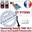 Samsung Galaxy TAB GT-P7500 10 B Verre GT Supérieure Prémonté LCD PREMIUM Adhésif en Tactile P7500 Assemblée Blanche Vitre Qualité Ecran 10.1