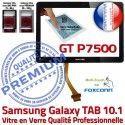 Samsung Galaxy TAB GT-P7500 10 N Adhésif Qualité 10.1 Verre PREMIUM P7500 LCD Vitre en Tactile GT Noire Ecran Supérieure Prémonté Assemblée