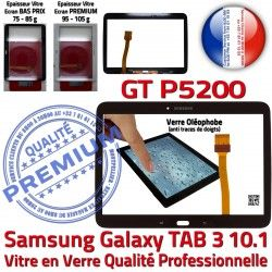 TAB3 Supérieure Assemblée Verre en Tab3 Samsung GT-P5200 Galaxy PREMIUM LCD Vitre Tactile Noire Prémonté 10.1 Ecran Adhésif N Qualité
