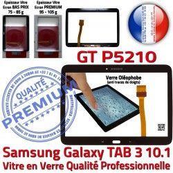 Qualité GT-P5210 Verre Assemblée Tactile Tab3 TAB3 Samsung Noire Prémonté Supérieure Adhésif en Galaxy LCD PREMIUM Vitre Ecran N 10.1