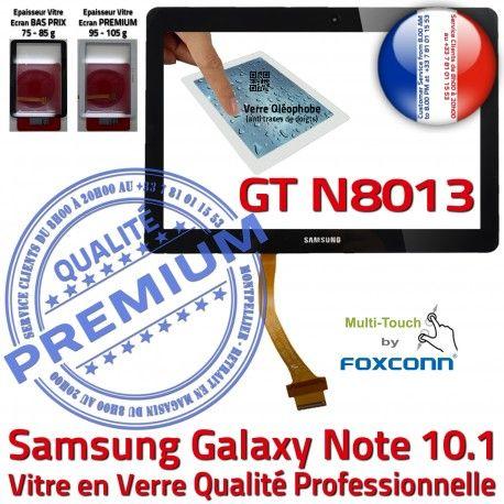 Samsung Galaxy NOTE GT-N8013 N PREMIUM en Qualité 10.1 GT Noire Prémonté Tactile Assemblée Verre LCD N8013 Supérieure Ecran Vitre Adhésif