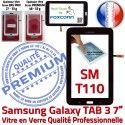 Samsung Galaxy TAB 3 SM-T110 N SM Supérieure Tactile 7 Verre LCD Adhésif Vitre Assemblée TAB3 Noire T110 Prémonté Qualité Ecran en PREMIUM