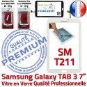 Samsung Galaxy SM-T211 Tab3 B Prémonté 7 Qualité Supérieure PREMIUM Verre Tactile TAB3 Blanche en Ecran LCD Adhésif Vitre Assemblée