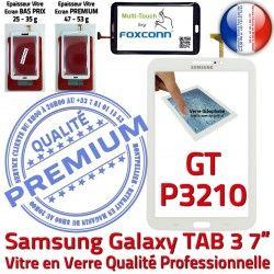 en Vitre B Tactile Galaxy 7 PREMIUM Samsung Verre Supérieure Blanche Qualité GT-P3210 TAB3 Prémonté Adhésif Ecran LCD Tab3 Assemblée