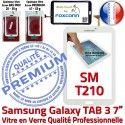 Samsung Galaxy SM-T210 Tab3 B Blanche PREMIUM 7 LCD Ecran TAB3 Prémonté Qualité Assemblée Adhésif Supérieure Verre Vitre en Tactile