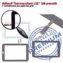 SM-T113 LITE Tab3 Noir Prémonté Galaxy T113 Ecran Samsung PREMIUM Qualité LCD en Adhésif Assemblée TAB3 SM Vitre Tactile Verre Supérieure Noire