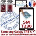 Samsung Galaxy SM-T230NZWAXEF N Verre PREMIUM Prémonté Noire Tactile Adhésif Assemblée Supérieure TAB4 Qualité Vitre LCD Ecran