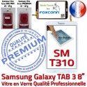 Samsung Galaxy TAB 3 SM-T310 B Assemblée en TAB3 PREMIUM T310 SM Supérieure Qualité inch Verre Blanche Coller Vitre Tactile 8 Prémonté Ecran à
